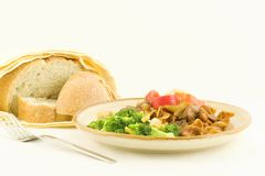 Goulash di manzo - rimanenze Fotografie Stock