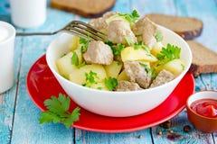 Goulash do guisado da batata da carne de porco Imagem de Stock