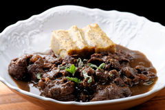 Goulash with dumplings Royalty Free Stock Images