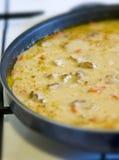 Goulash in frying pan Stock Photo
