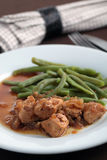 Goulash with green beans Stock Image