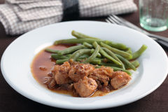 Goulash with green beans Royalty Free Stock Photo