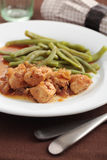 Goulash with green beans Stock Photography