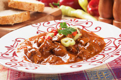 Goulash, hungarian beef stew Royalty Free Stock Photo