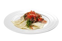 Goulash. Hungarian traditional dish. On a white background stock images