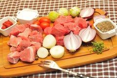 Goulash Ingredients Royalty Free Stock Photos