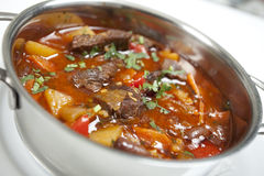 Goulash. Of meat, tomatoes and potatoes Stock Image