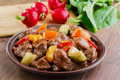 Goulash meat Stock Photography