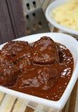 Goulash piccante della carne Fotografie Stock