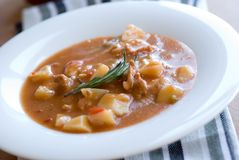 Goulash on a plate Royalty Free Stock Images