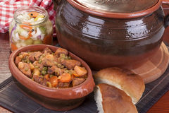 Goulash or pork stew Stock Image