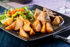 Goulash with prepared potatoes Royalty Free Stock Photography