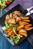 Goulash with prepared potatoes Stock Image