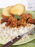 Goulash with rice Royalty Free Stock Photo