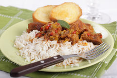 Goulash with rice Stock Images
