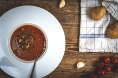 Goulash soup with beef Stock Photography