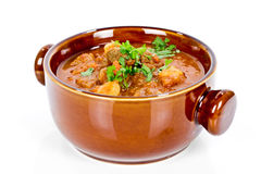 Goulash soup isolated Royalty Free Stock Images