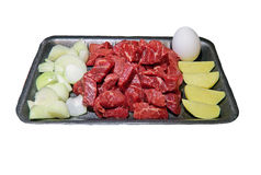 Goulash on a tray Stock Photo