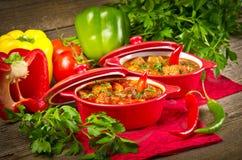 Goulash ungherese Fotografia Stock