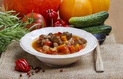 Goulash ungherese con carne Immagini Stock