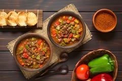 Goulash Vegan με το κρέας σόγιας Στοκ Φωτογραφία