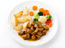 Goulash and vegetables Stock Photo