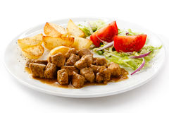 Goulash and vegetables Stock Images
