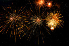 Gould Firework display at the night Firework display Royalty Free Stock Images