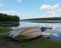 Free Gouldsboro Lake In The Pocono Mountains Stock Photo - 147409750