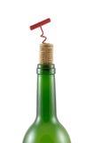 Goulot, bouteille-vis de liège Photos stock
