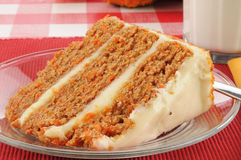 Goumet carrot cake Royalty Free Stock Photo