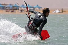 Gouna do EL de Kitesurf foto de stock royalty free