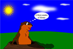 goundhogs de jour Images stock
