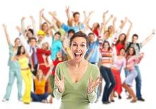 Goup счастливых людей Стоковая Фотография