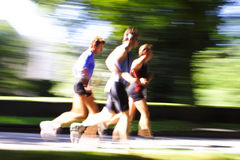 Goup of runners blurred Stock Photography
