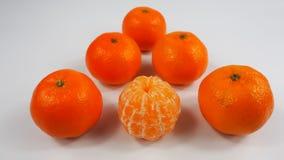 Goup soczyści beznasienni pomarańczowi tangerines obraz royalty free