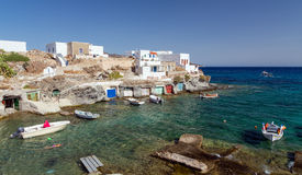Goupa fishing village, Kimolos island, Cyclades, Greece Stock Image