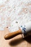 Goupille avec de la farine Image libre de droits