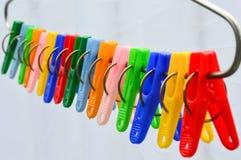 Goupille colorée de tissu photographie stock