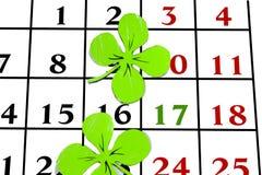 Goupille de calendrier de jour de patricks de St en mars Copiez l'espace Image stock