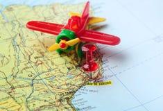 Goupille de carte d'aéroport de Rio de Janeiro Photographie stock libre de droits