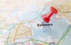 Goupille de carte de Baltimore Photo libre de droits