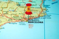 Goupille de pouss?e avec le drapeau de l'Espagne photo libre de droits