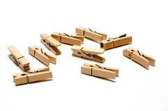 Goupille en bois de tissu Images stock