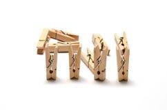 Goupille en bois de tissu Photo libre de droits