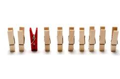 Goupille en bois de tissu Photographie stock libre de droits