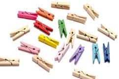 Goupille en bois de tissu Photos stock