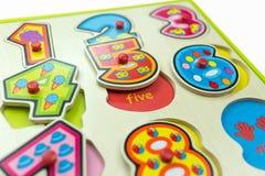 Goupille en bois de Toy Jigsaw tirée Photographie stock libre de droits