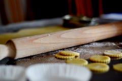 Goupille et pâtisserie Images stock