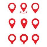 Goupille rouge de cartes Icône de carte de site illustration de vecteur